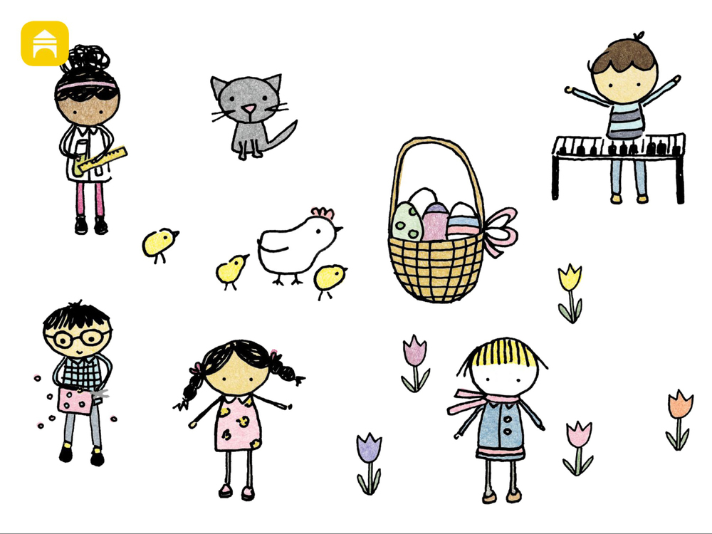 Easter soundboard: a catchy, cute and gentle song you can build!