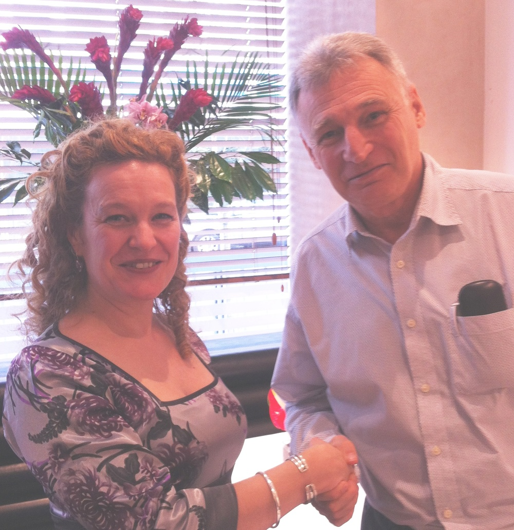 AMPAL Chair Catherine Gerrard seals the deal with Jeremy Fabinyi in London