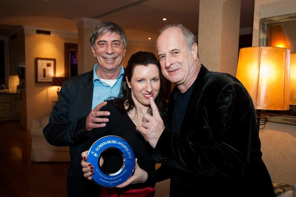 Ian James, Julie Hodges & Michael Gudinski