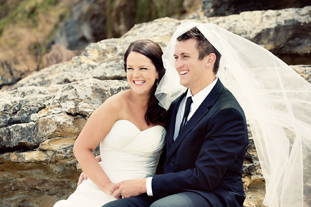 Emily & Jarred  • 2 February 2013  St. Mary's Cathedral & The Beach, Blackmans Bay