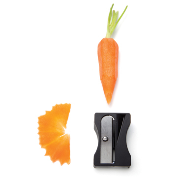 laughingsquid :      Karoto, A Sharpener for Vegetables That Makes Decorative Shavings      This makes me unbelievably happy.