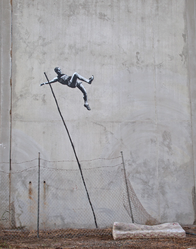 laughingsquid :      Summer Olympics Themed Street Art by Banksy in London      Love it -