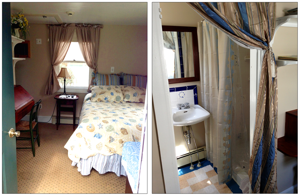 Anne's Room — a cozy first floor bedroom option that guests can choose if they have a special need or elderly parents.  The adjoining shower and bathroom make for the perfect setup.  Learn more.