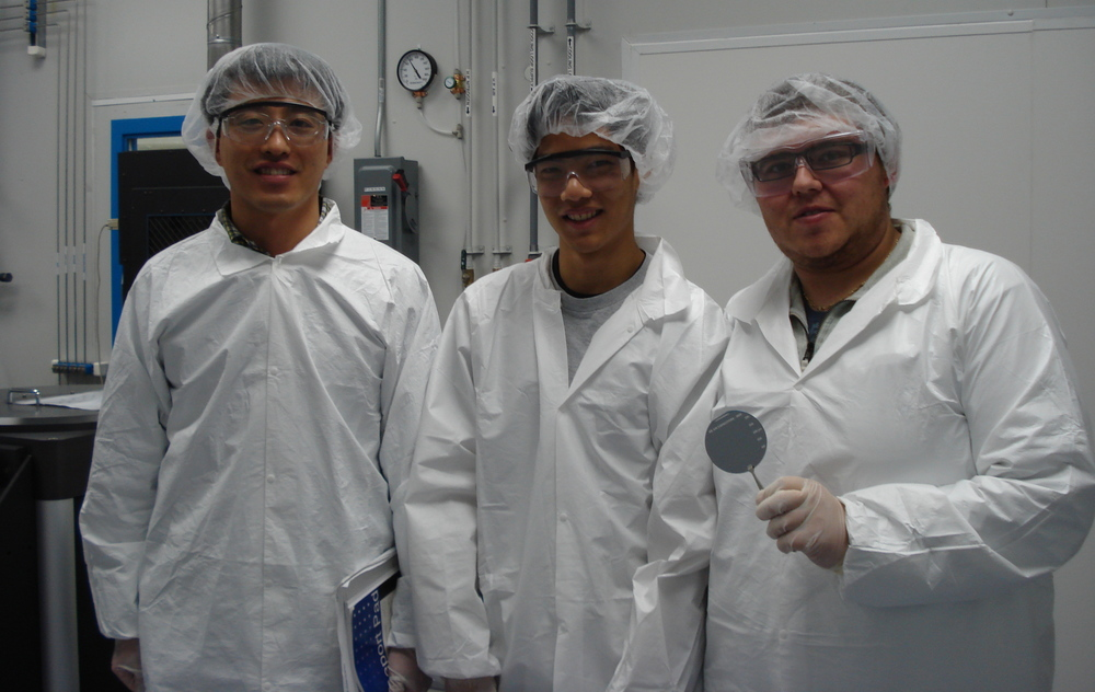 Making MEMS (Micro Electrical Mechanical Systems) devices in a Class 1000 Clean Room Microfabrication Lab at the University of Waterloo