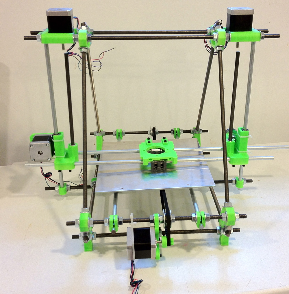 FinkrBot: a RepRap Prusa Mendel 3D Printer built by yours truly.