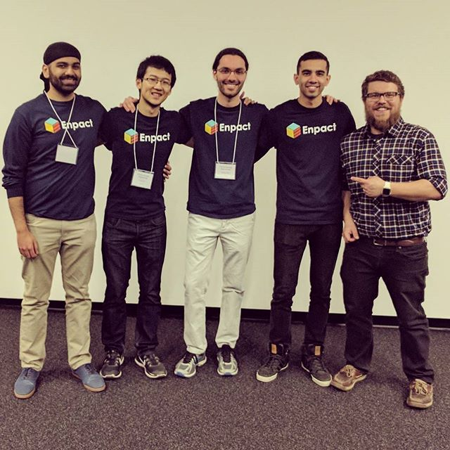 Repost from @structur3dprinting -  A huge congratulations to Team Enpact, they won the most entrepreneurial project award last week at @uofwaterloo Nanotechnology Engineering Capstone Design Symposium. Wonderful product and wonderful pitch! (Bio below) 😀 ... We have been an award sponsor for the Symposium the past 3 years and love learning about all of the amazing nano tech the program showcases every year! Thanks for having us back again today. 👌 ... Enpact Technologies has developed a revolutionary new approach for powering wearables. Soon, you'll never have to charge them again. We've created a battery-free smart insole that harvests power from human motion using triboelectric nanogenerators. We are using this platform to track fitness metrics with high accuracy and convenience. Of course, performance data is instantly communicated to your smartphone or smartwatch via Bluetooth as you move.  Group members: Sushant, Keegan, Pritpal, Tony. - #regrann