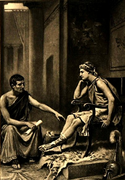 Aristotle tutoring Alexander