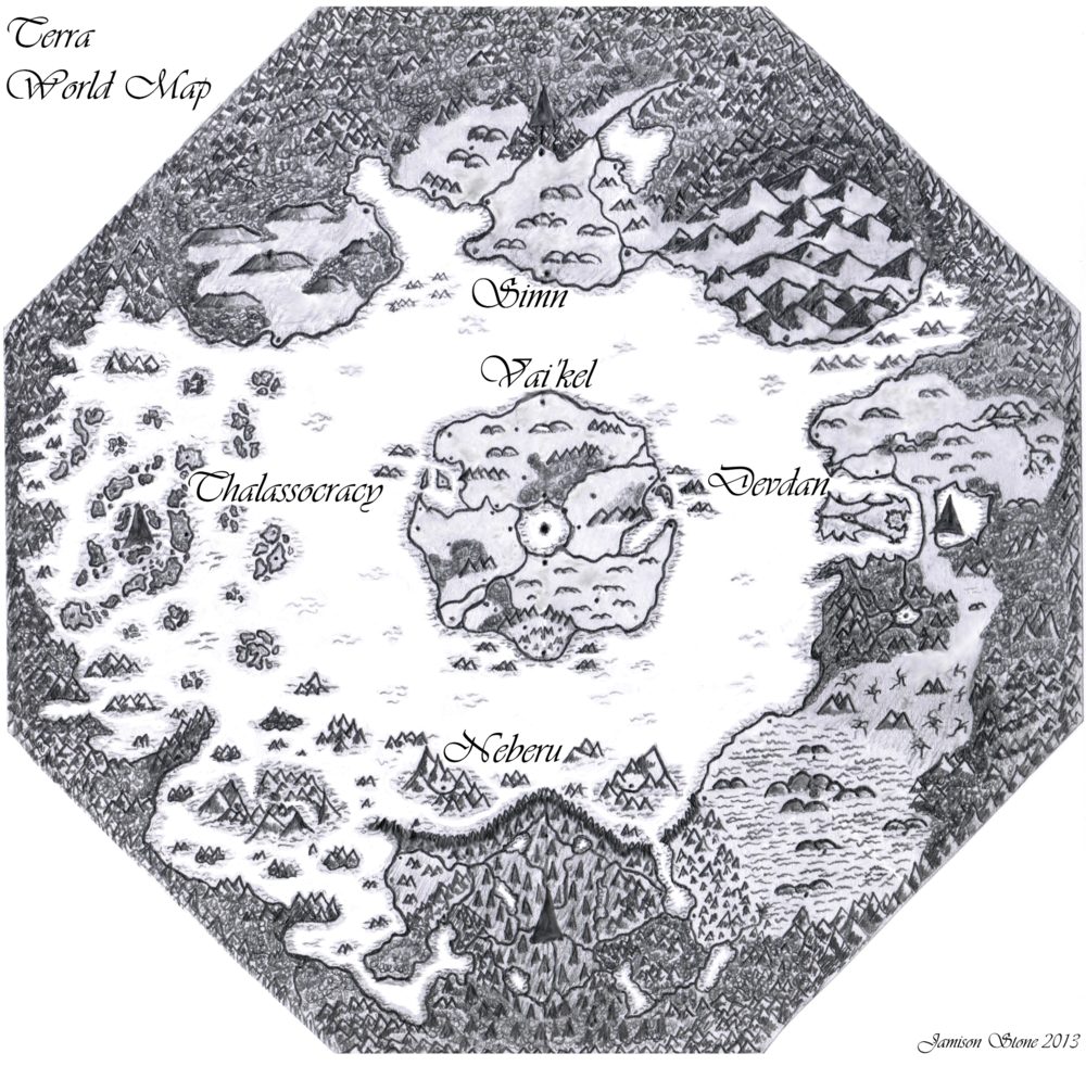 Terra World Map -  Mindra's Haven and The Illusive Diamond  by Jamison Stone
