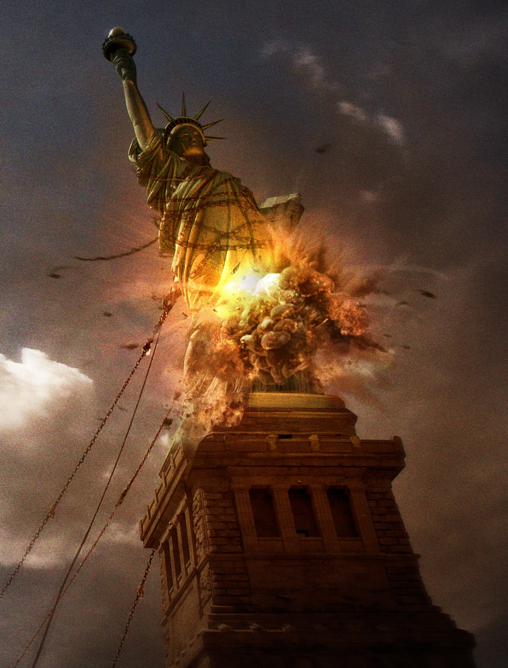 They Were Tearing Down Liberty >> President Demolishes Statue Of Liberty Declares Antifa A Terrorist