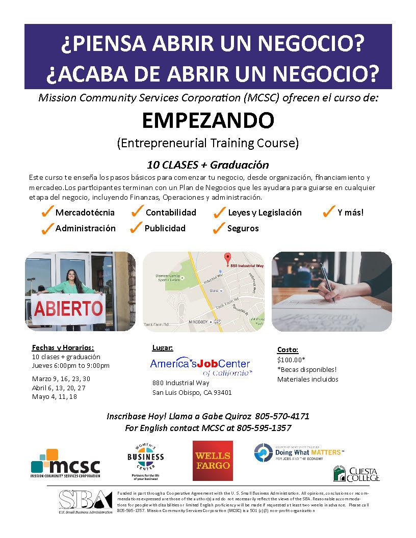 Haz clic el volante para mas informacion  LLama Gabe Quiroz para inscribase  (805) 570-4171