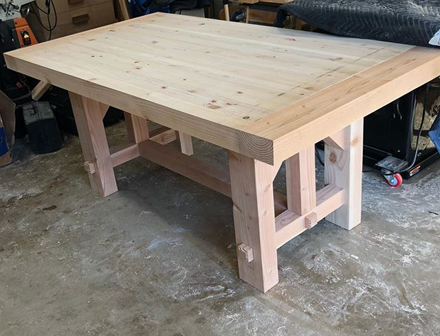It's ready to be stained and sealed... it's going to happen soon... @summersaif and I want to start a new Life Group in the fall and we needed our table to do it. So looking forward to the discussions and friendships that will be built around this table. Honestly... to me... the table is a means to an end... the people around it make it valuable. #people #matter #table and #wood #working is just #fun 😘