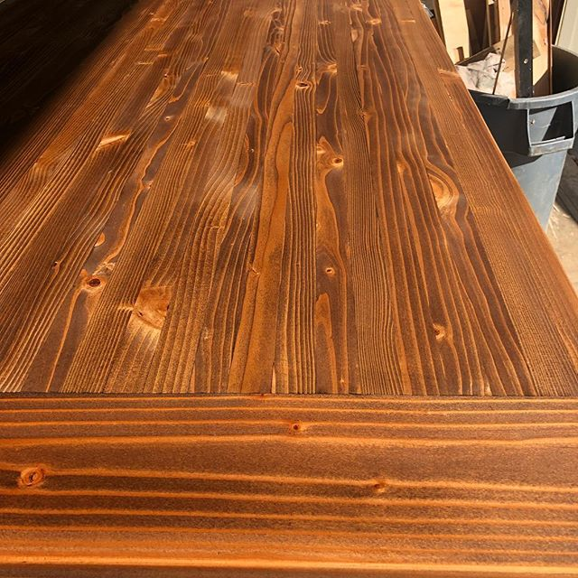 Staining is done. Next step sealing... #almostthere #woodworking