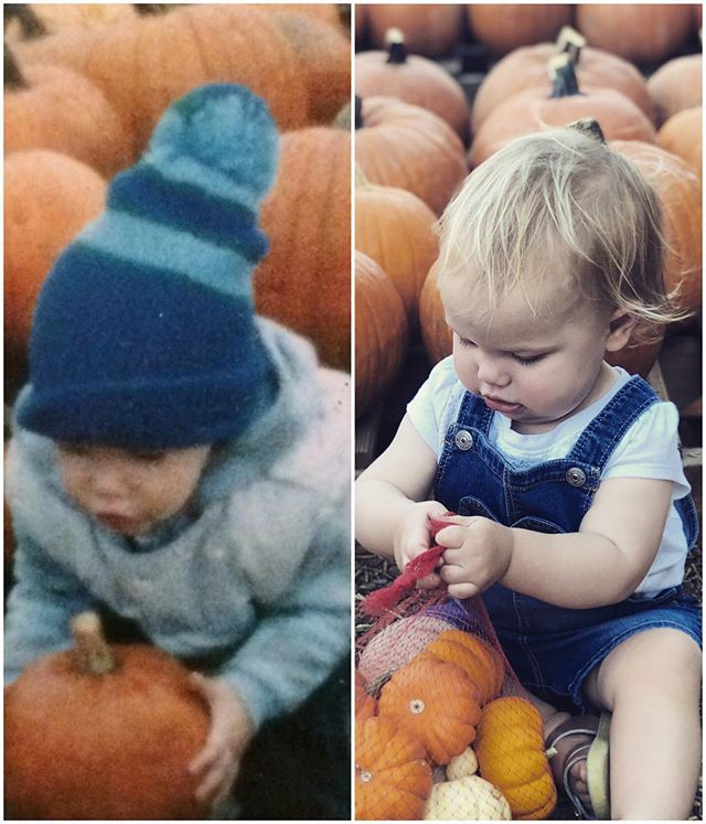 The pumpkin doesn't fall far from the patch. Great mom's think a like @debra_gourley @amyriz