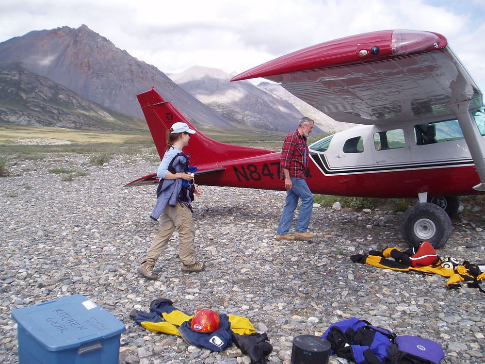 Arriving at Grasser's Airstrip with Tom
