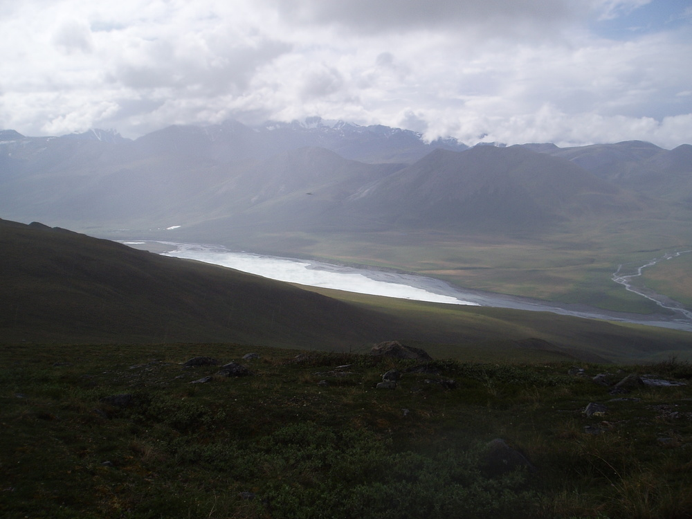 Looking down at the Hu;ahula from our hike