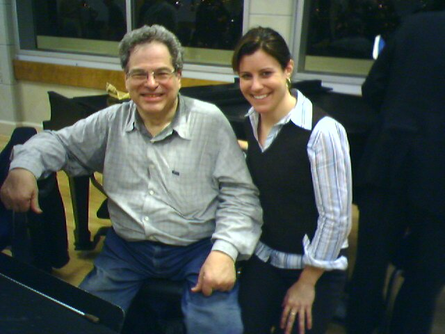 Rehearsal with Itzhak Perlman