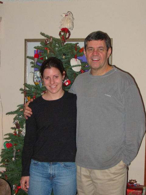 With Dad at Christmas