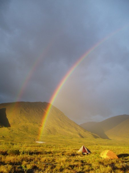 Double rainbow on the Hulahula River