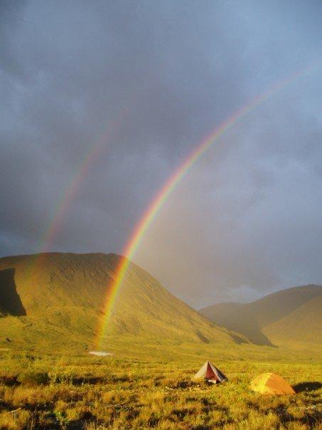 Double rainbow on the Hulahula River