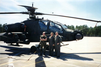 The crew for 248, my first assigned aircraft with 3/229th Aviation at Ft. Bragg 1995. SPC Cameron was one of the best crew chiefs I ever knew. The Army did not take care of him, and he got out.