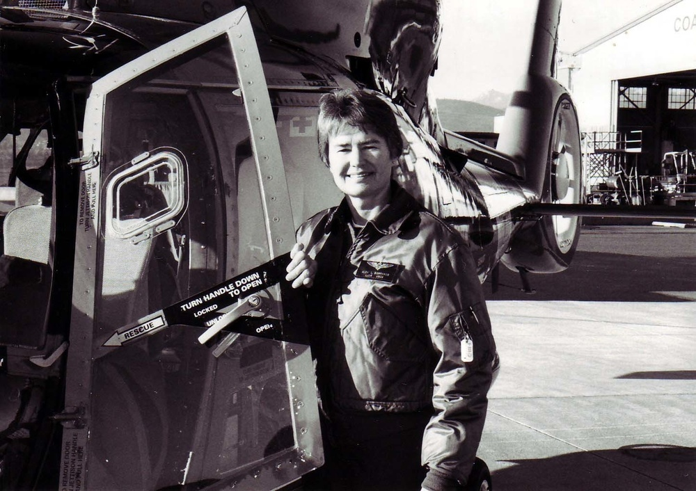 Siebrands with her HH-65 in Port Angeles