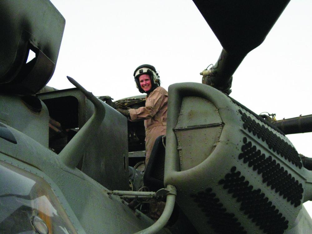 Deal preflighting her USMC CH-53E