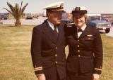 O'Dea and her father at her flight school graduation