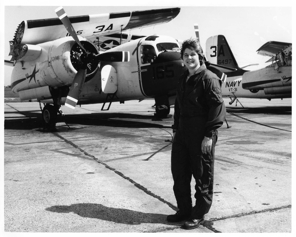 O'Dea in front of a C-1A