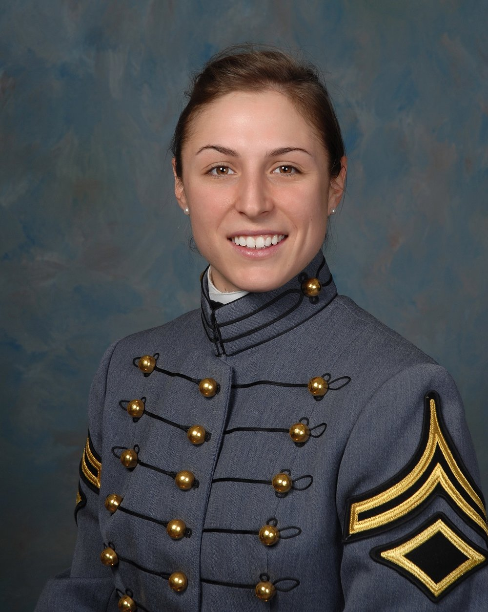 Shaye Haver as a cadet at West Point