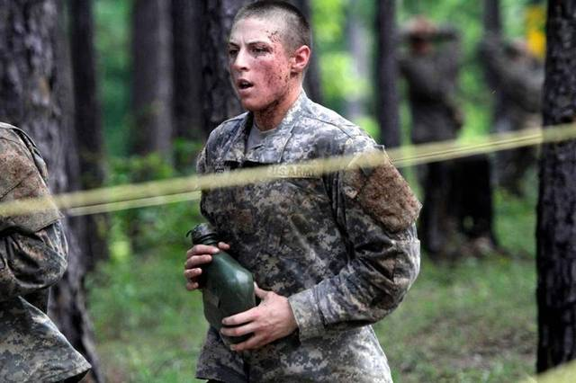 Shaye Haver as a 1LT at Ranger School
