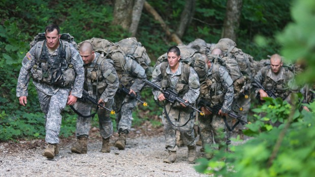 Haver at Ranger School in Mountain Phase