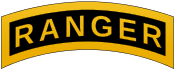 The Ranger Tab worn only by those who complete the grueling training.