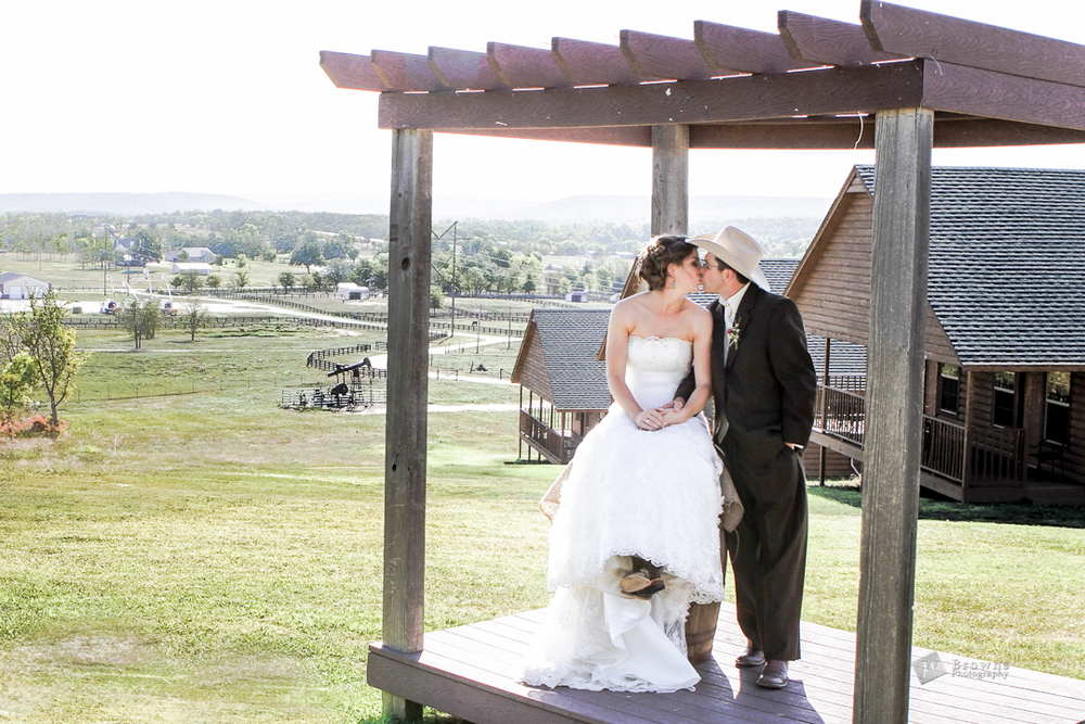 """We love our wedding photos!  They look great.""  Toby and Sheena,  Tulsa, Oklahoma."