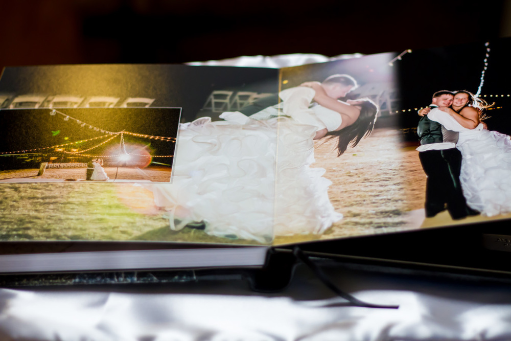 custom leather itallian handmade wedding album