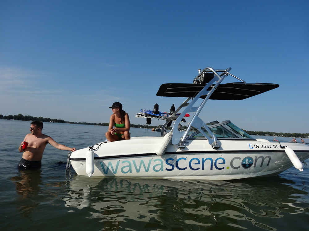 Say hit to us on the water and we'll give you a wawascene.com koozie!