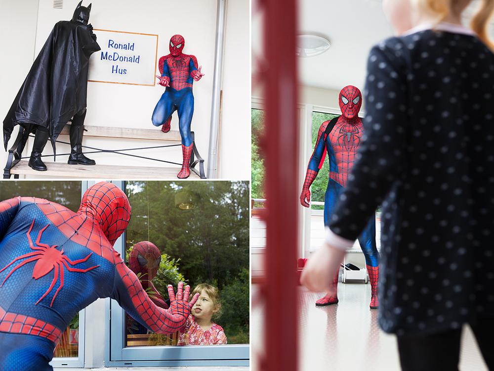 Superhjältar  mot cancerför tidningen Amelia