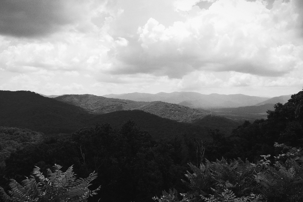 On the Blue Ridge Parkway.