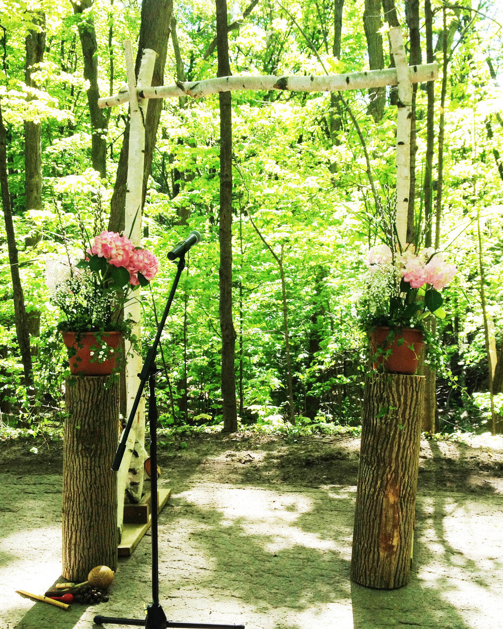 Del Vinyl Ceremony setup Kortright Center.JPG