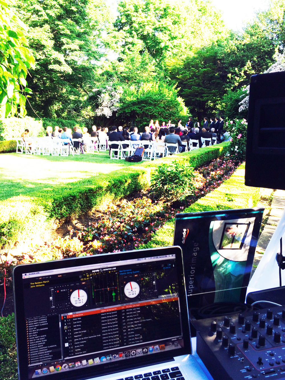 out side ceremony estates of sunnybrook toronto wedding dj.jpg
