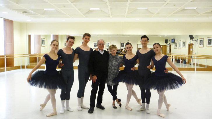 Eli Gruska at The Royal Ballet School in London