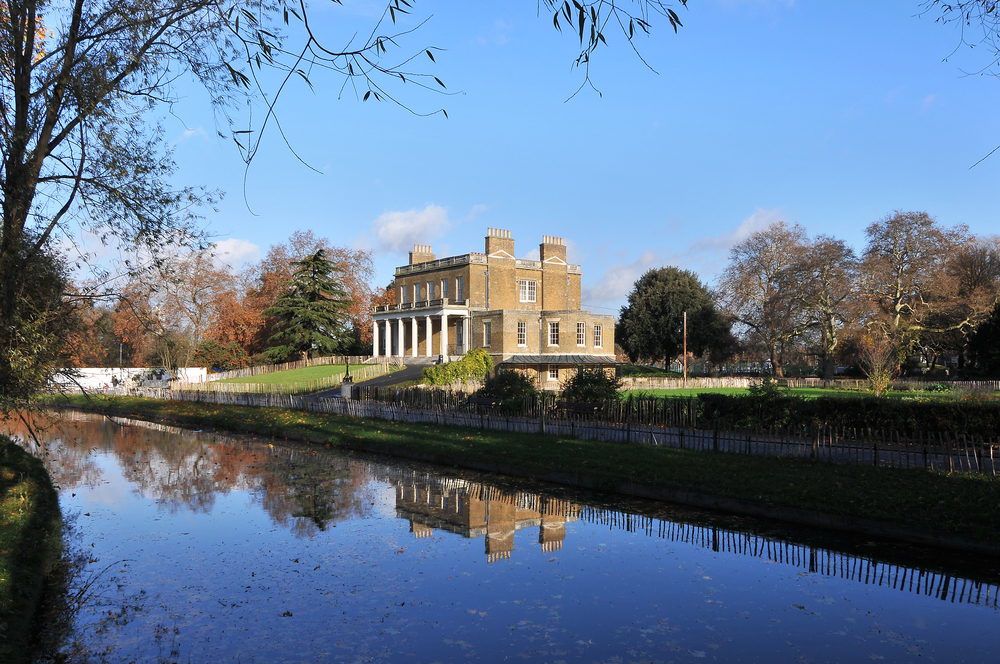External view of Clissold House and Clissold Park
