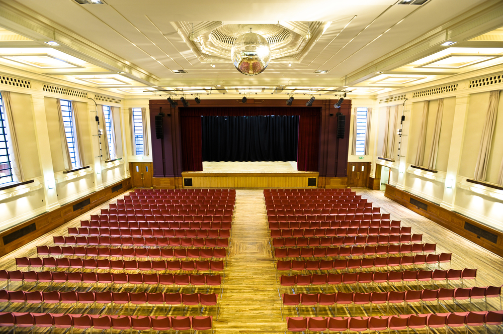 A conference in Stoke Newington Town Hall Assembly Hall