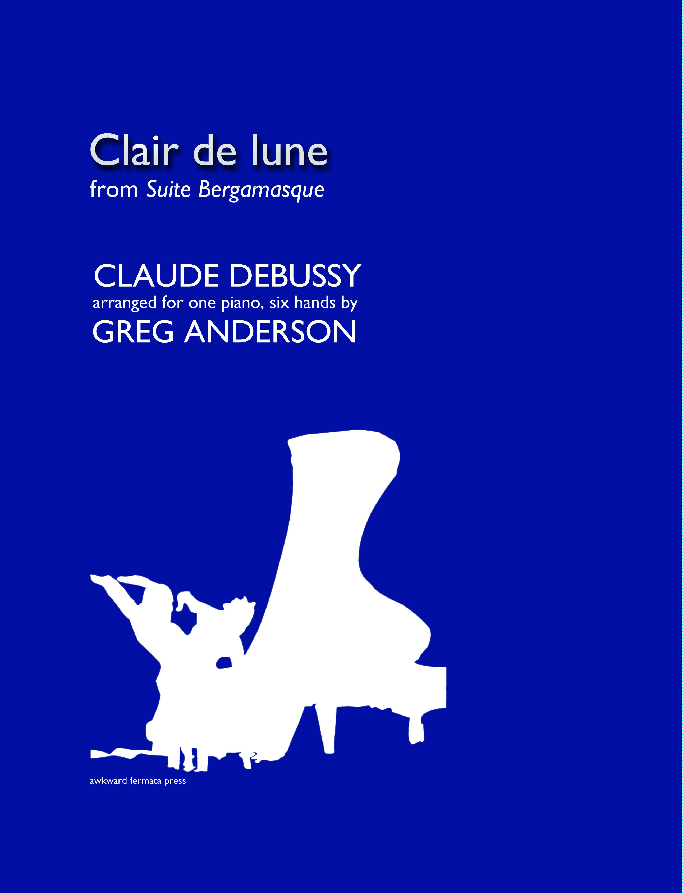 DEBUSSY: Clair de lune (6 hands) — GREG ANDERSON concert pianist
