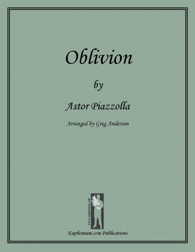 PIAZZOLLA: Oblivion  $19.95  Purchase from   euphonium.com