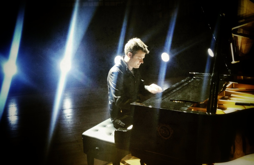Rehearsing on stage in Chongqing, China. December, 2013.