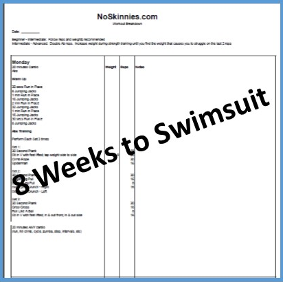 8 Weeks to Swimsuit:  Week 3