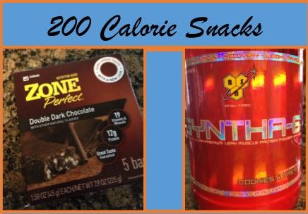 200 Calorie Snacks/Mini Meals