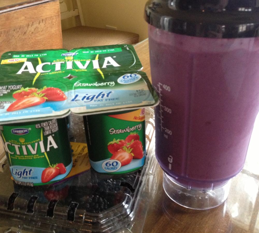 Blackberry Yogurt Protein Smoothie — NO SKINNIES