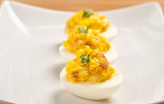 Weight Watchers Deviled Eggs with Roasted Red Peppers