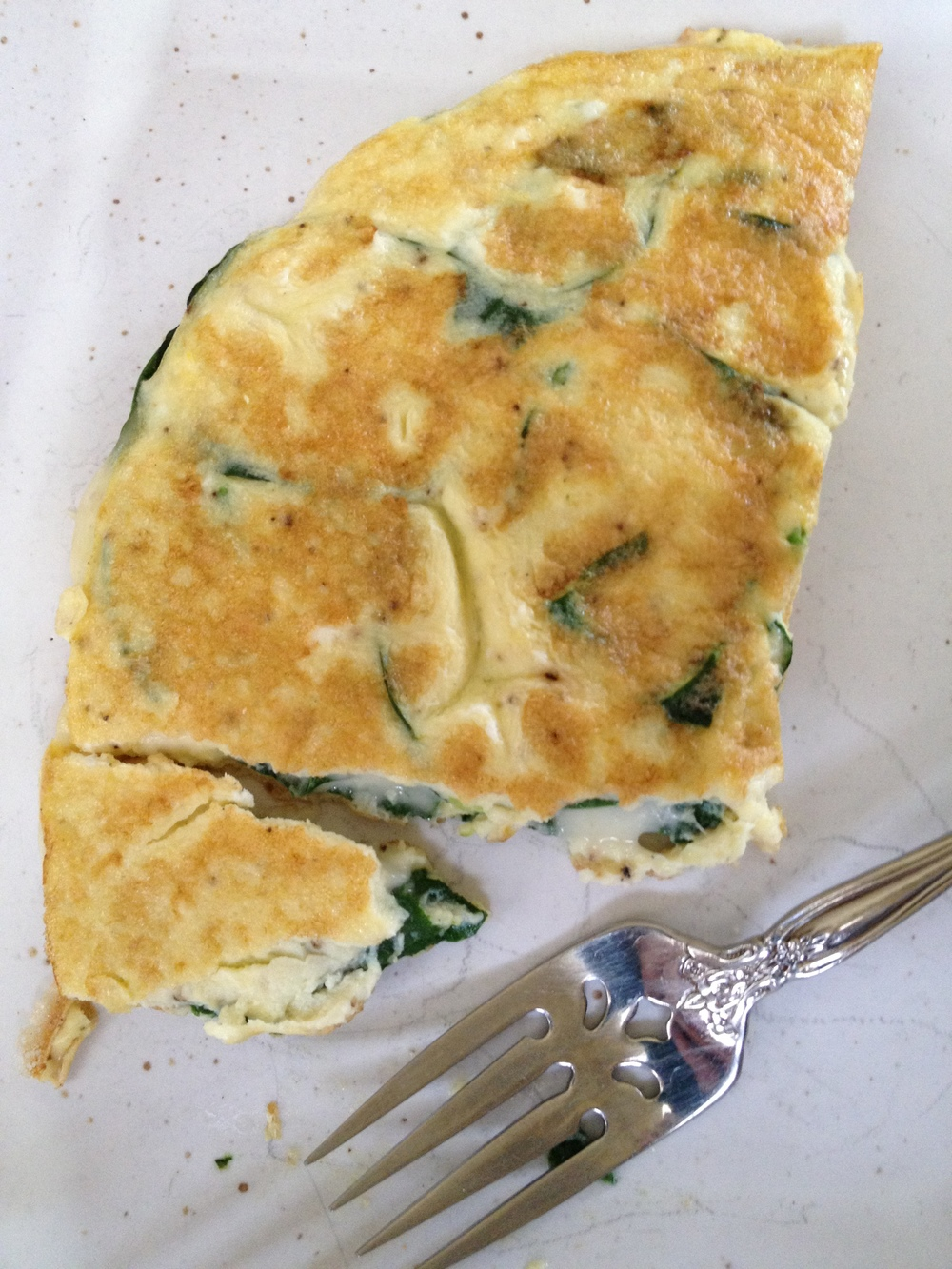 spinach and cheese omelet.JPG